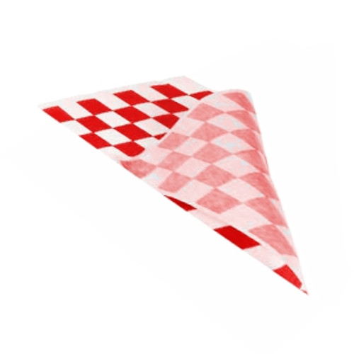 Greaseproof Paper Checkered RED & White - 1/3 Cut [3 Out] 400x220mm