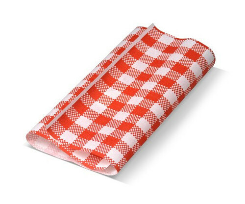 Greaseproof Paper Gingham RED & White - 310x190mm