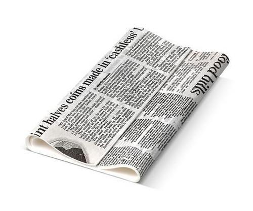 Greaseproof Paper NEWSPRINT Design - [2 Cut] 400 x 330mm