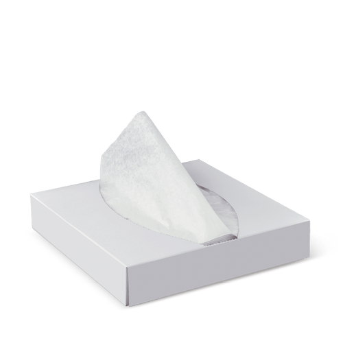 Pick Up Sheets - LARGE Plain WHITE 198 x 198mm (Dispenser) - [F408S0001A]
