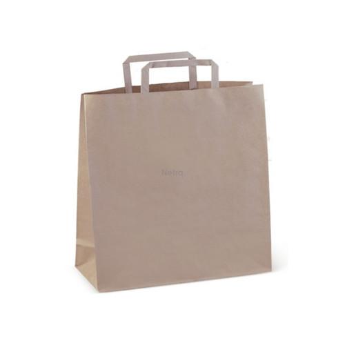Paper Carry Bag #75 BROWN Flat Fold Handle Block Bottom [C167S0010A]