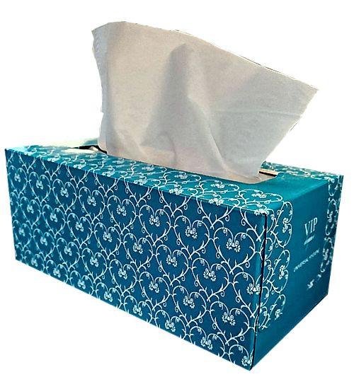 Facial Tissue - 200sht 2ply VIP Universal Hygiene - White