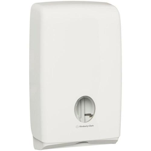 Hand Towel Dispenser - Compact Aquarius ABS Plastic White [70240]