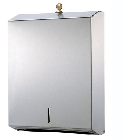 Hand Towel Dispenser - Multifold Stainless Steel Lockable