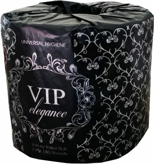 Toilet Roll 180sht 3Ply - VIP Elegance [0454220] Individually Wrapped