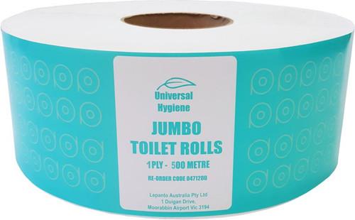 Toilet Roll Jumbo 1Ply 500M