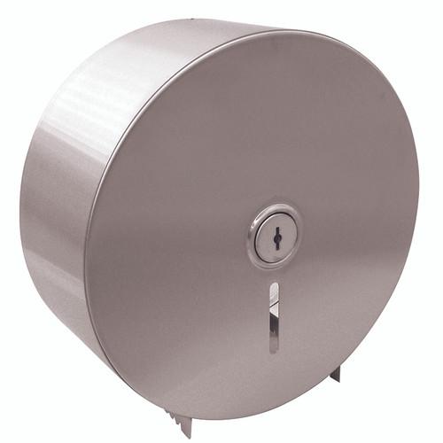Toilet Paper Jumbo Dispenser - Single Roll St/Steel - Lockable