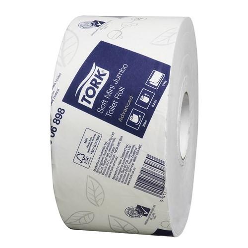 Tork Advanced - Soft Mini Jumbo Toilet Roll 200M 2P x 12 Rolls [2306898] T2