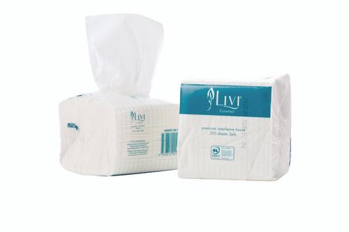 Toilet Paper 2Ply Interleaved - Livi Essentials (200sht x 36pkts) [1006]