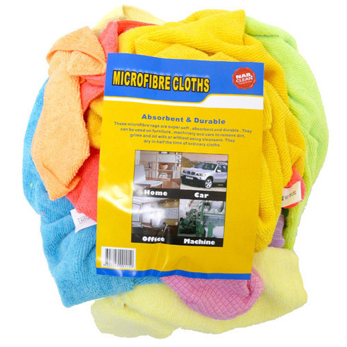 Rags - Microfibre Mixed Bag of Colour & Sizes