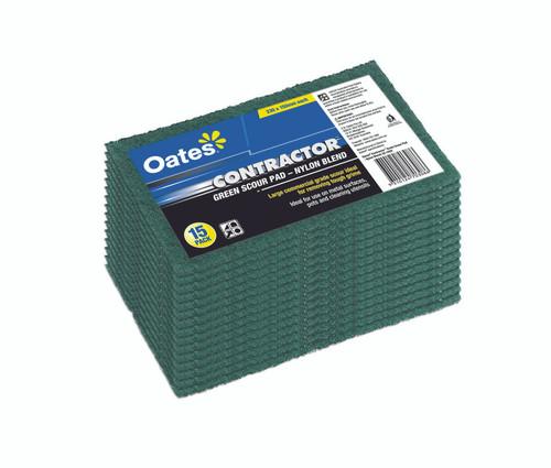 Green Nylon Scour Pad 23x15cm [SC- 103V] OATES