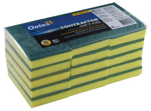 OATES Scour/Sponge [SC-110V] 150 x 100mm - 15 Pack