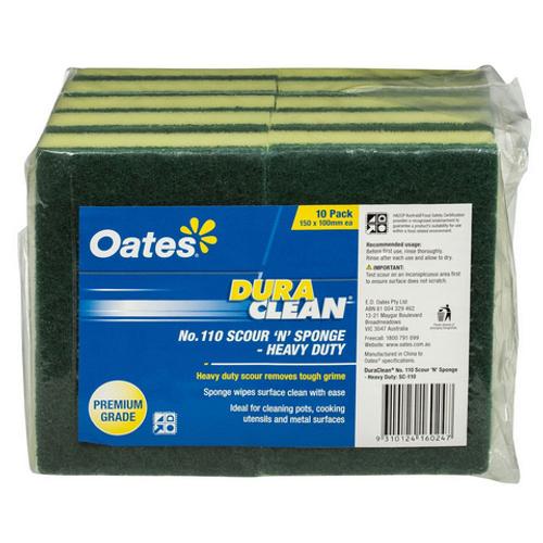OATES Scour/Sponge [SC-110] 150 x 100mm - 10 Pack