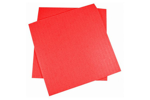 "Cellulose Sponge Cloth 7x8"" Red"