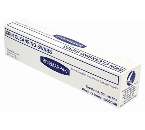 Wet Wipes Antibacterial - Swab 70% Isopropyl Alcohol - Utensil Use Only - Pkt Ind/Wrapped BRIEMAR