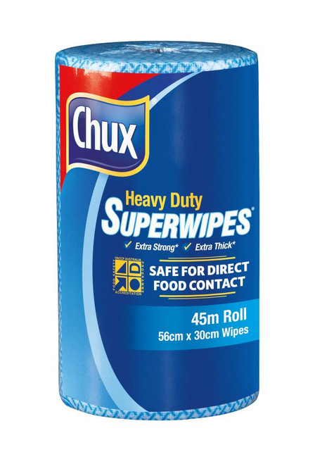 Wipe - CHUX Roll Heavy Duty 45M x 30cm [9305] Non-Perforated - BLUE
