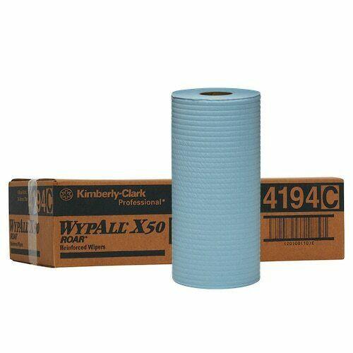 Wipe - WYPALL X50 4Ply Reinforced Roll 24.5cm x 70M [4194] - BLUE