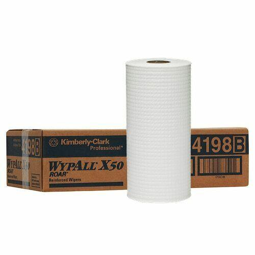Wipe - WYPALL X50 4Ply Reinforced Roll 24.5cm x 70m [4198] - WHITE