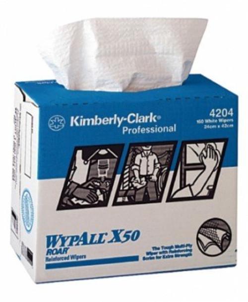 Wipe - WYPALL X50 4Ply Reinforced Sheet 24 x 42cm [4204] - WHITE