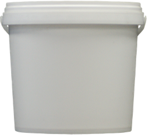 Bucket 5kg White with Plastic Handle complete with Tamper Evident Lid