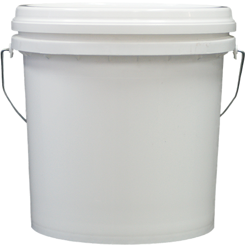 Bucket 10kg White with Wire Handle and Flat Pull Off Lid