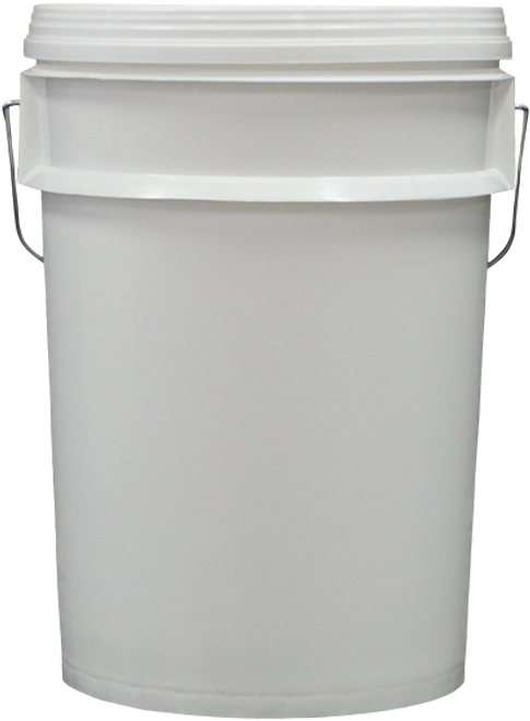 Bucket 20kg White with Wire Handle and White with Pull-Off Lid