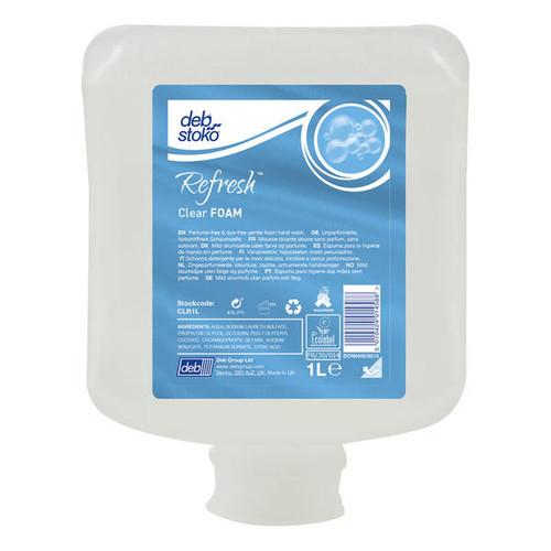 Hand Soap Pods - DEB REFRESH Clear Foam Wash 1L - [CLR1L] - Perfume & Dye Free