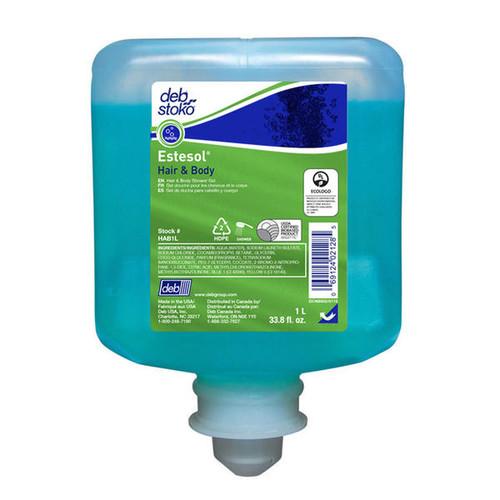 Hair & Body Soap Pods - DEB Estesol Rainforst Frarance Fragrance Free Blue 1L [HAB1L]