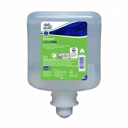 Hand Soap Pods - DEB Stoko Estesol Lotion PURE - Perfumed Dye Free 1L [PUW1L]
