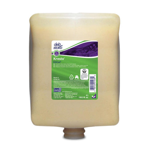 Hand Soap Pods - DEB Kresto Citrus Heavy Duty Cartridges Natural Orange Oil 4L [CIT4L]