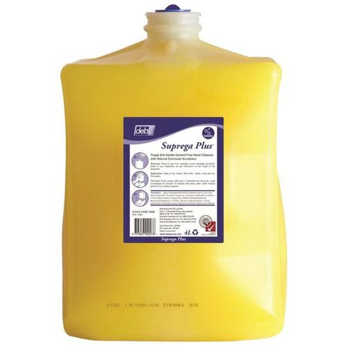Hand Soap Pods - DEB Suprega PLUS (SWARFEGA PLUS) Heavy Duty Hand Cleaner With Cornmeal Scrub 4L