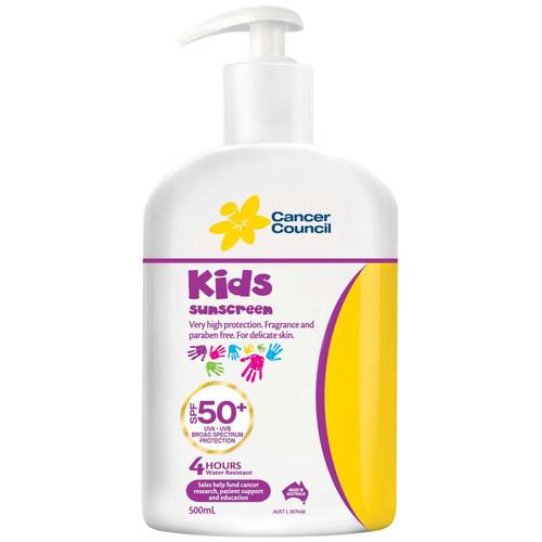 Sunscreen - CANCER COUNCIL KIDS SPF50+ C/W Pump
