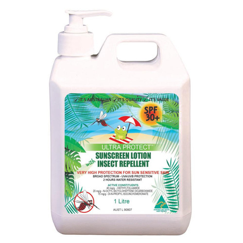 Sunscreen - ULTRA PROTECT SPF30+ with Insect Repellent PARABEN FREE C/W Pump