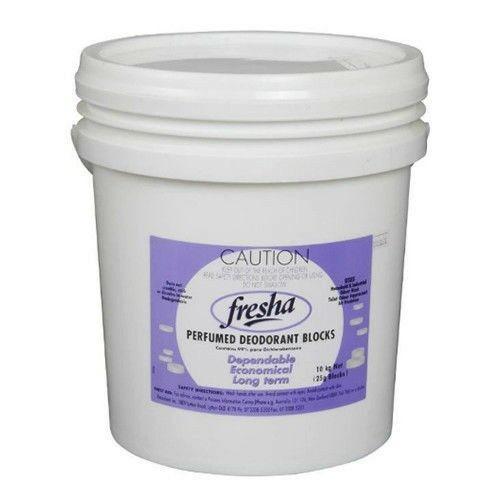Urinal Deodorant Blocks - FRESHA Perfumed 100g - Unwrapped - 10kg