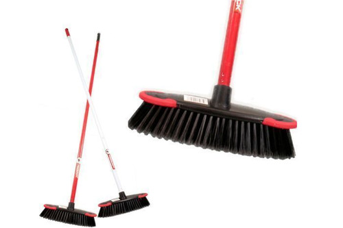 Broom - Indoor 30cm - Deluxe with Handle and Anti Scuff Wall Protectors