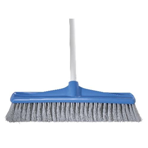 Indoor 45cm Jumbo Premium Broom with Handle - BLUE