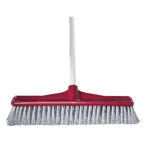 Indoor 45cm Jumbo Premium Broom with Handle - RED