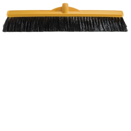 Platform Broom Head ONLY - 60cm Poly Stock with SOFT Poly Bristtles