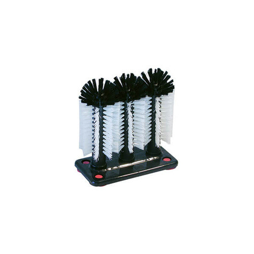 Triple Glass Scrubbing Brush with Suction Cups