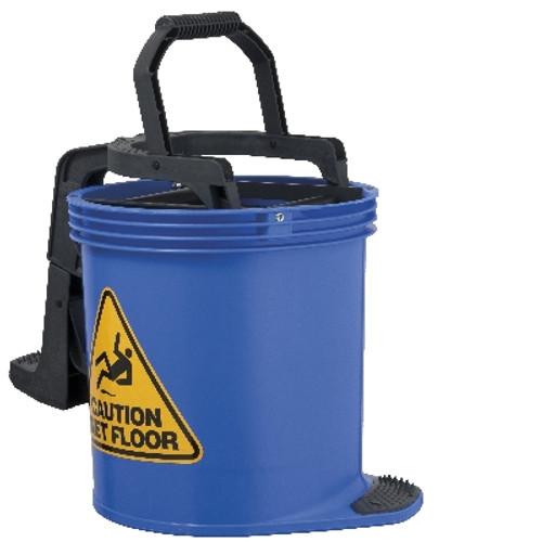 Mop Wringer Bucket Duraclean Mark II - 15L with Castors - BLUE