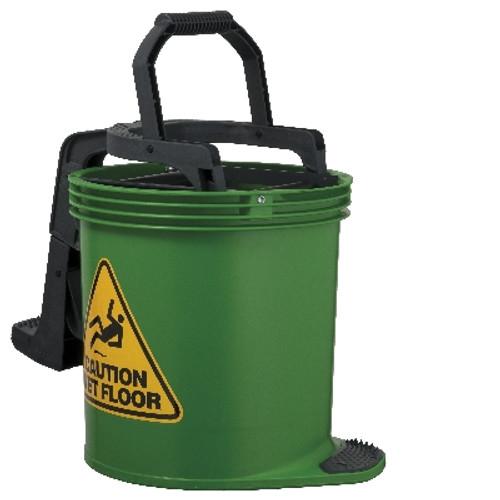 Mop Wringer Bucket Duraclean Mark II - 15L with Castors - GREEN