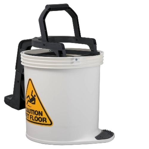 Mop Wringer Bucket Duraclean Mark II - 15L with Castors - WHITE