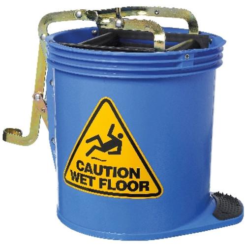 Contractor Mop Wringer Bucket 15L with Castors - BLUE - [IW-005B] - OATES