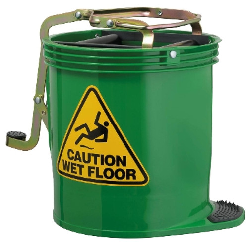 Contractor Mop Wringer Bucket 15L with Castors - GREEN - [IW-005G] - OATES