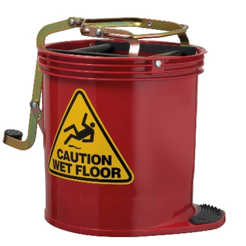 Contractor Mop Wringer Bucket 15L with Castors - RED - [IW-005R] - OATES
