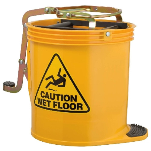 Contractor Mop Wringer Bucket 15L with Castors - YELLOW - [IW-005Y] - OATES