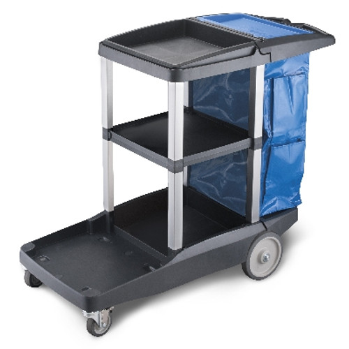 Janitor Cart 110cm (L) x 96cm (H) x 46cm (W) Complete With Bag