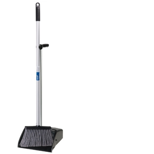 Lobby Pan With Broom SET - OATES Commercial Upright Plastic - BLACK