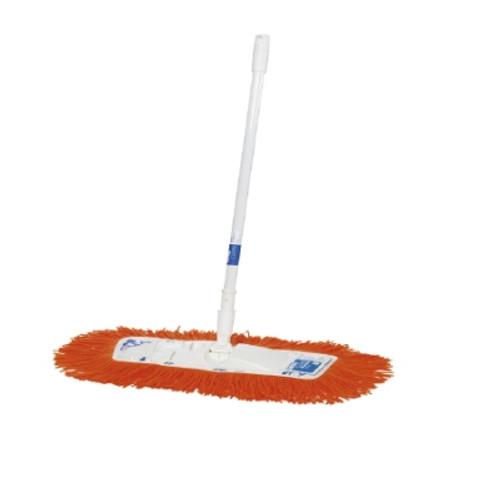 Dust Control Mop - OATES Floormaster Modacrylic 35cm Orange with White Powder Coated Handle