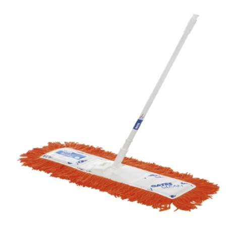 Dust Control Mop - OATES Floormaster Modacrylic 60cm Orange with White Powder Coated Handle